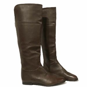 Elie Tahari Leather Knee High Brown Riding Boots